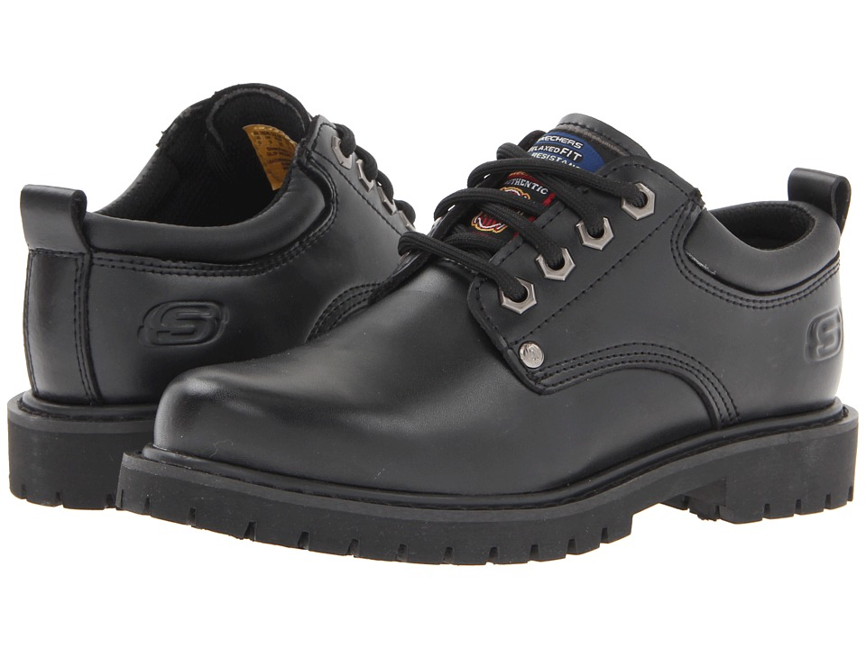 SKECHERS Work - Stedman (Black) Women's Lace up casual Shoes