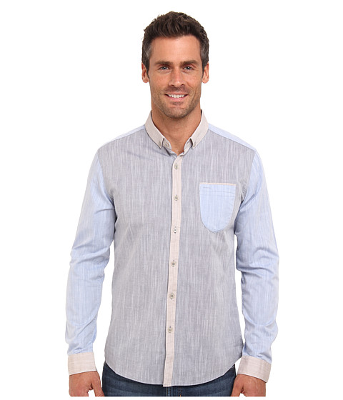 7 Diamonds - Frontier City L/S Shirt (Slate) Men's Long Sleeve Button Up