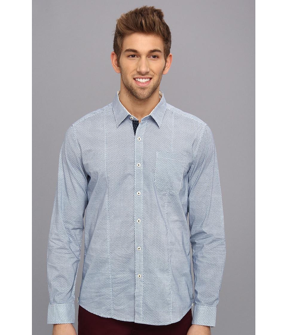 7 Diamonds - Another Daydream L/S Shirt (Blue) Men's Long Sleeve Button Up