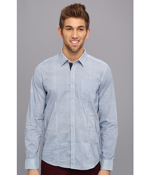 7 Diamonds - Another Daydream L/S Shirt (Blue) Men's Long Sleeve Button Up