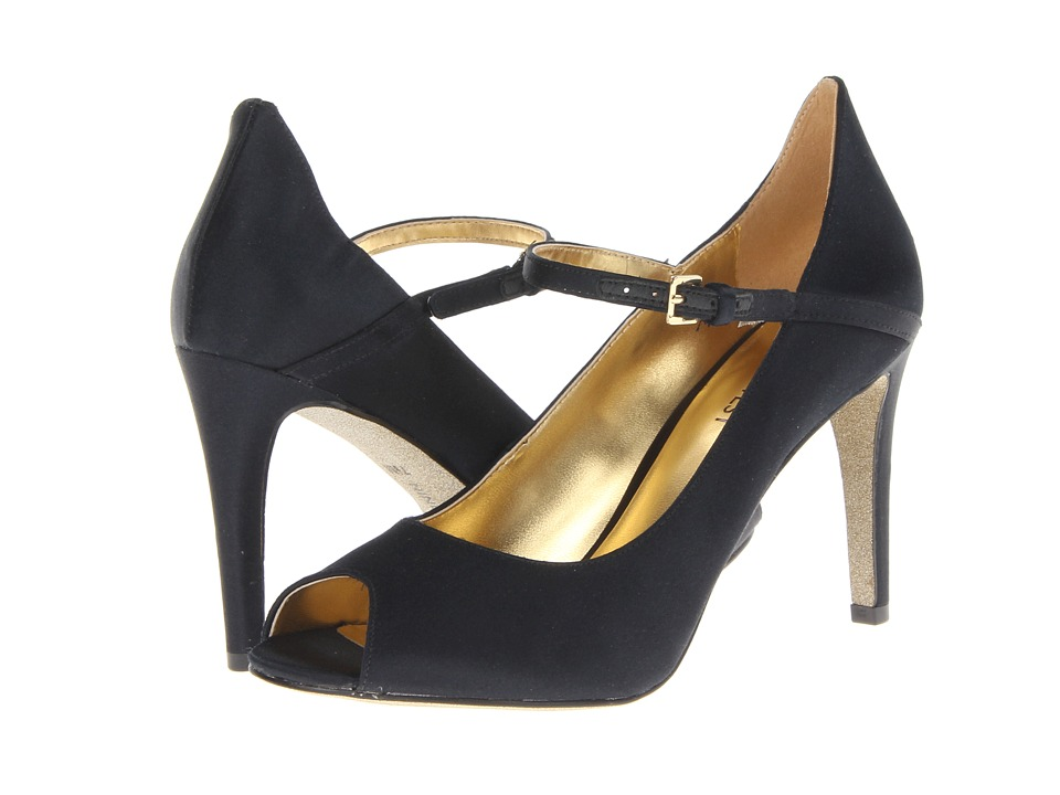Nine West - Deardiary (Black Satin) High Heels