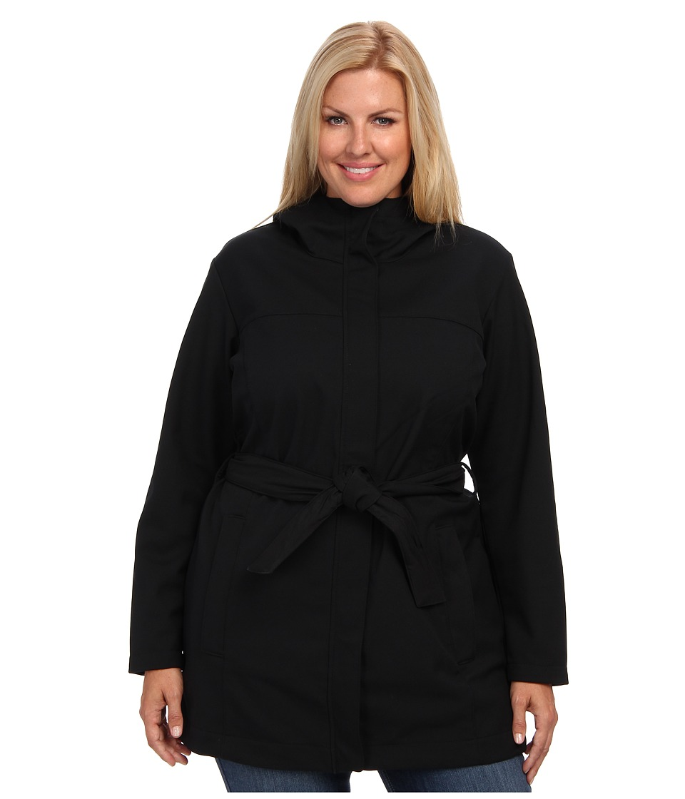 Columbia - Plus Size Take to the Streets Trench (Black) Women's Coat
