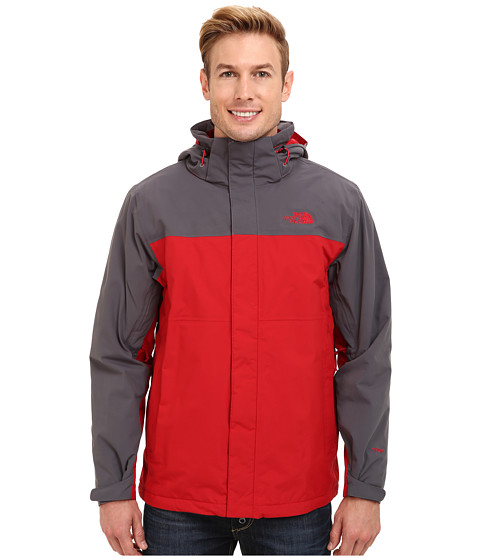 The North Face - Inlux Insulated Jacket (Rage Red/Vanadis Grey) Men's Coat