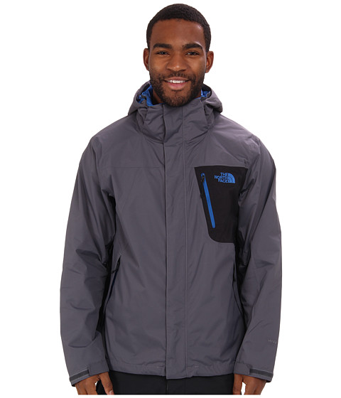 The North Face - Varius Guide Jacket (Valadis Grey/TNF Black) Men's Coat