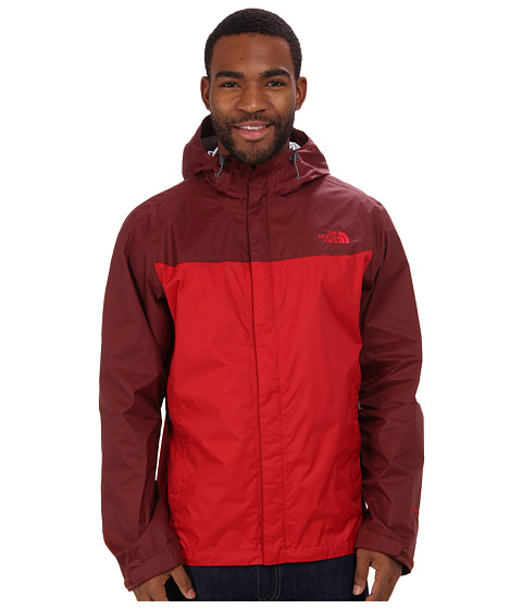 The North Face - Venture Jacket (Rage Red/Cherry Stain Brown) Men's Coat