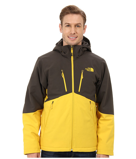 The North Face - Apex Elevation Jacket (Black Ink Green/Sulphur Yellow) Men's Coat