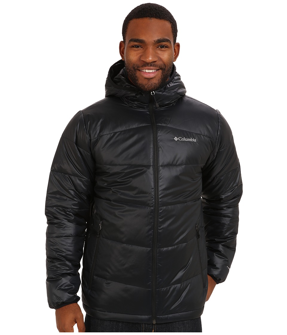 Columbia - Gold 650 TurboDown Hooded Down Jacket (Black) Men's Coat