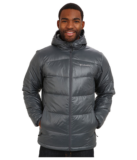 Columbia - Gold 650 TurboDown Hooded Down Jacket (Graphite) Men's Coat