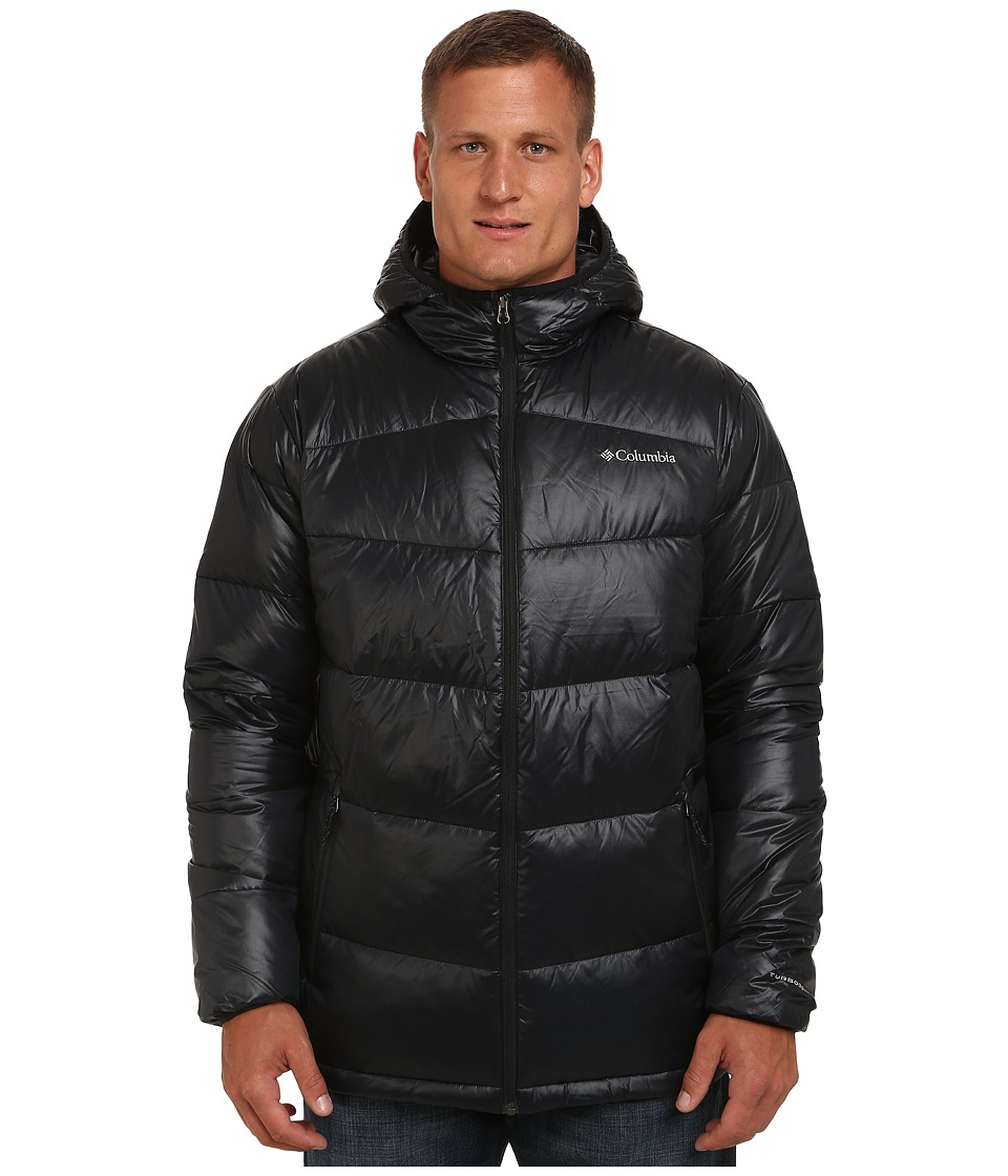 Columbia - Gold 650 TurboDown Hooded Down Jacket - Tall (Black) Men