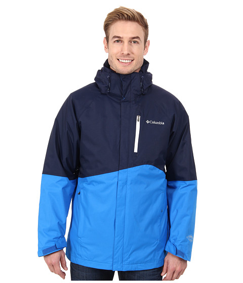 Columbia - Powderkeg Interchange Jacket (Collegiate Navy/Hyper Blue/White Pop/Collegiate Navy) Men