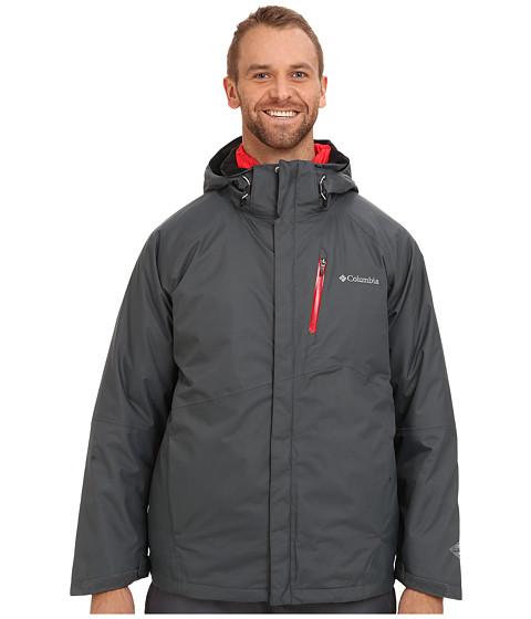 Columbia - Powderkeg Interchange Jacket - Extended (Graphite/Bright Red Pop/Bright Red Pop) Men's Coat