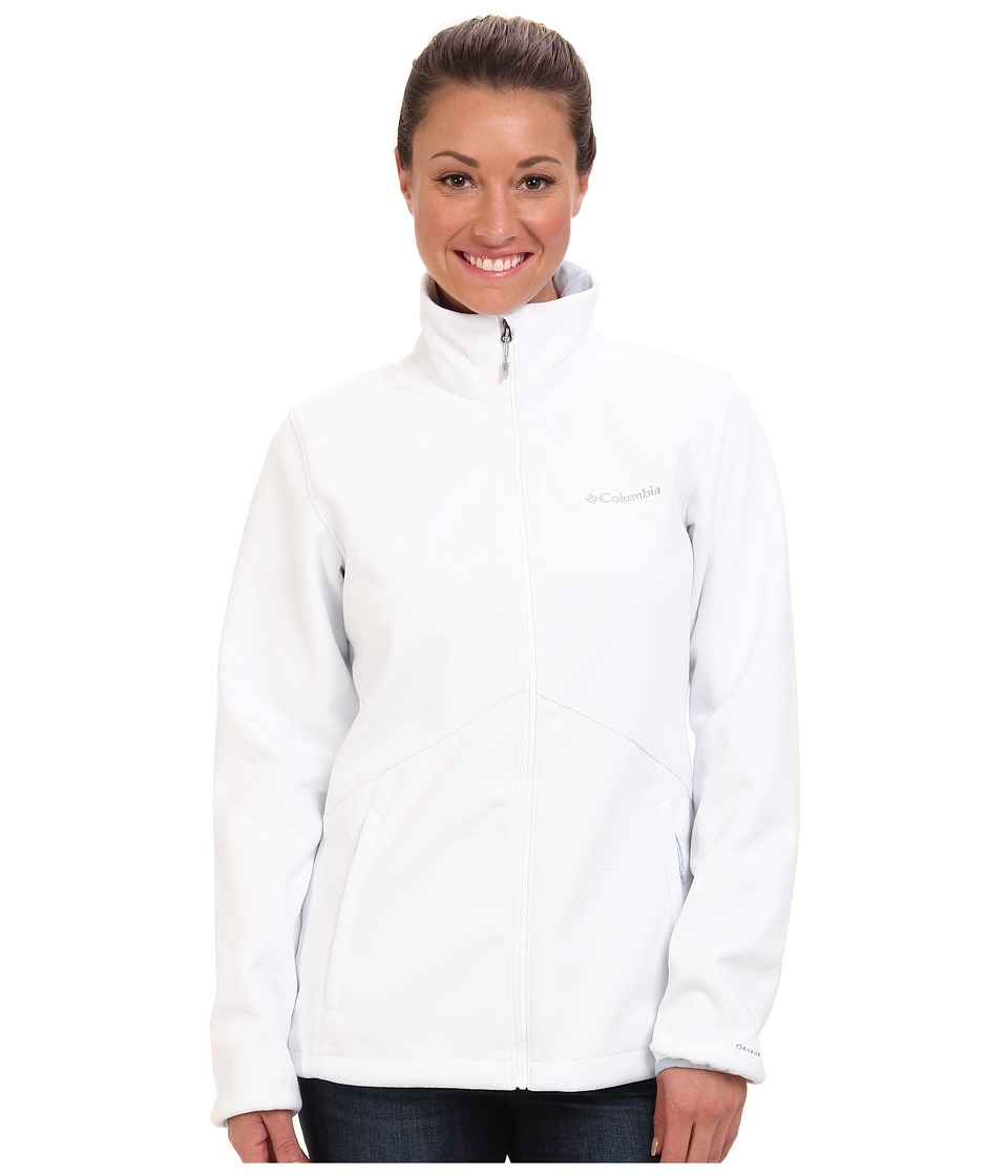 Columbia - Wind Protector Fleece Jacket (White/Mirage) Women's Coat