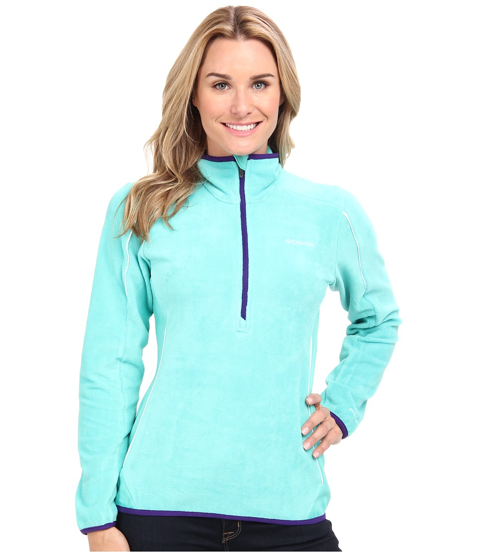 Columbia - Crosslight II Half-Zip Fleece (Oceanic/Hyper Purple/White) Women's Long Sleeve Pullover