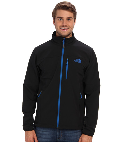 The North Face - Apex Pneumatic Jacket (TNF Black/Snorkel Blue) Men's Coat