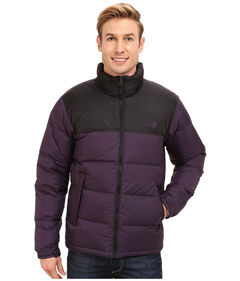 The North Face - Nuptse Jacket (Dark Eggplant Purple/TNF Black) Men's Coat