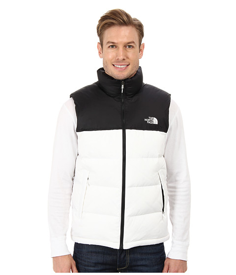 The North Face - Nuptse Vest (TNF White/TNF Black) Men