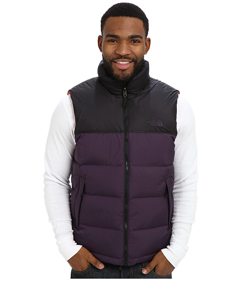 The North Face - Nuptse Vest (Dark Eggplant Purple/TNF Black) Men's Vest