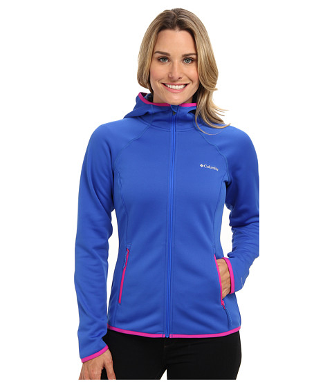 Columbia - Helter Shelter Hooded Fleece Jacket (Blue Macaw/Groovy Pink) Women's Fleece