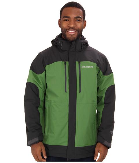 Columbia - Summit Crest Interchange Jacket (Dark Moss/Dark Backcountry/Dark Moss) Men