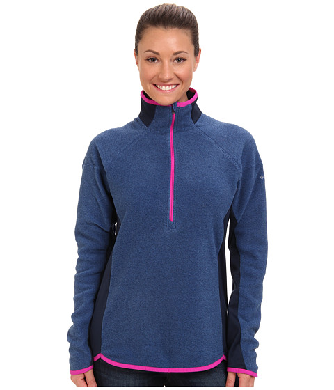 Columbia - Ombre Springs Fleece Half Zip (Harbor Blue/Blue Macaw/Groovy Pink) Women