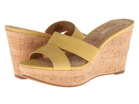 Nine West - Effie (Yellow Nubuck) Women's Wedge Shoes