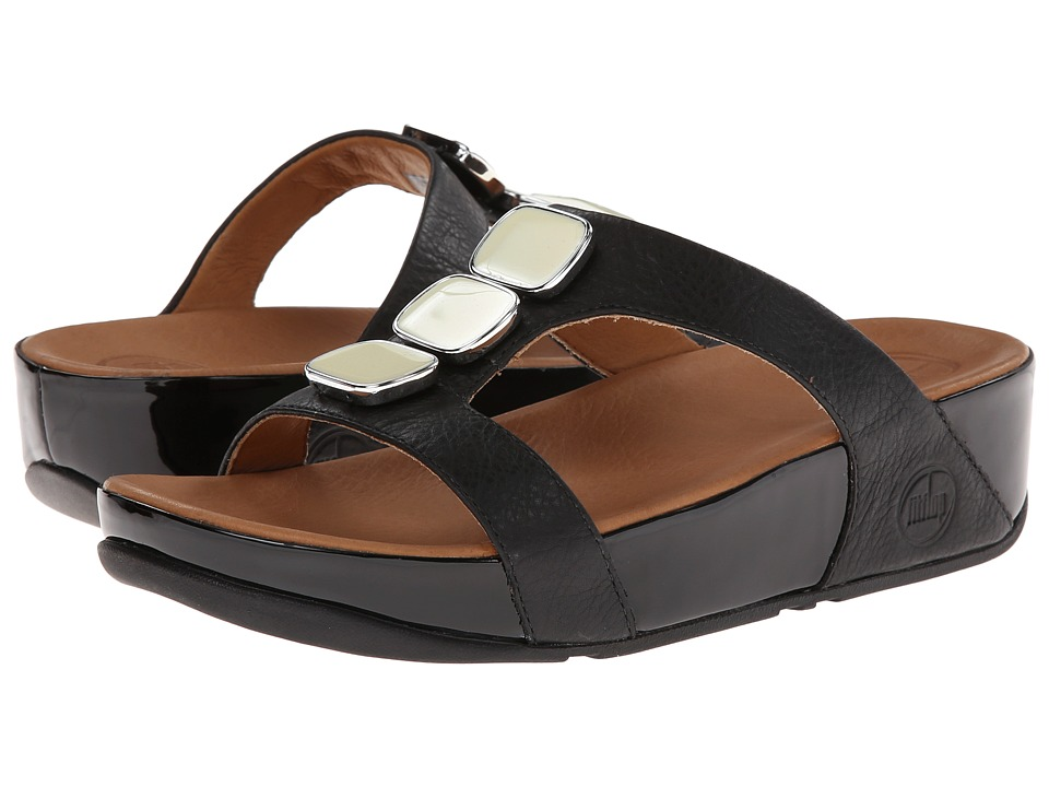 FitFlop - Pietra II Slide (Black) Women's Sandals