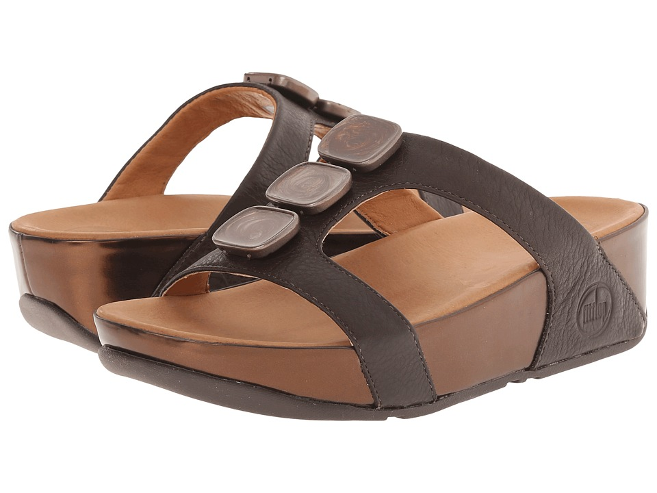 FitFlop - Pietra II Slide (Chocolate Brown) Women