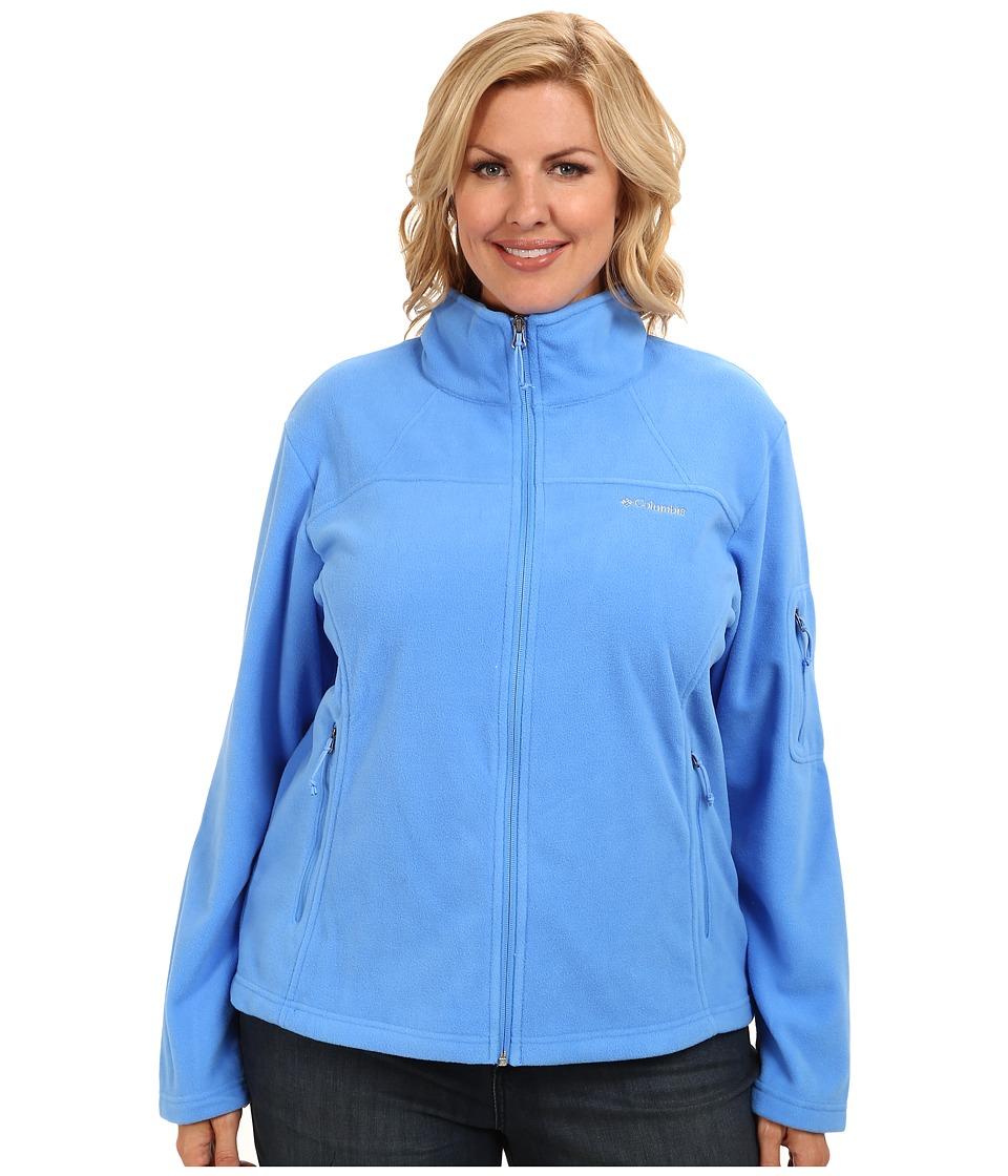 Columbia - Plus Size Fast Trek II Full Zip Fleece Jacket (Harbor Blue) Women