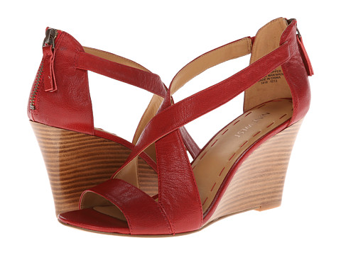 Nine West Fichel (Red Leather) Women's Wedge Shoes