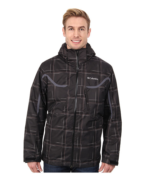 Columbia - Whirlibird Interchange Jacket (Black Print/Graphite/Black) Men's Jacket
