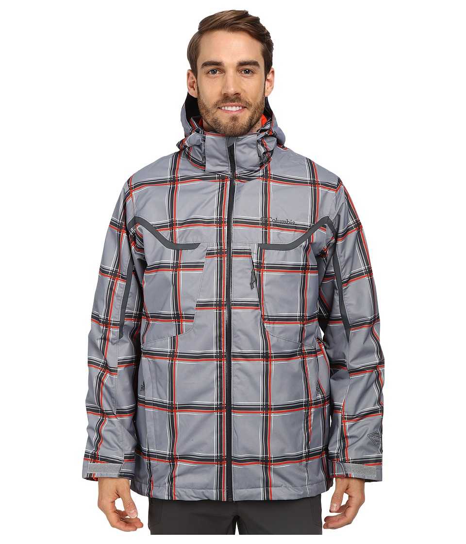 Columbia - Whirlibird Interchange Jacket (Tradewinds Grey Plaid/Graphite/State Orange) Men's Jacket