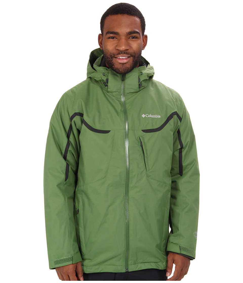 Columbia - Whirlibird Interchange Jacket (Dark Backcountry/Dark Moss/Dark Moss) Men's Jacket