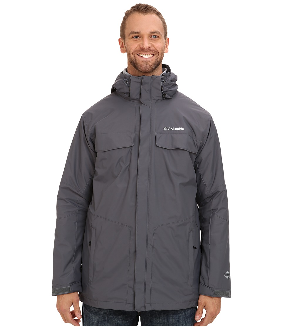 Columbia - Bugaboo Interchange Jacket - Tall (Graphite/Tradewinds Grey) Men's Coat