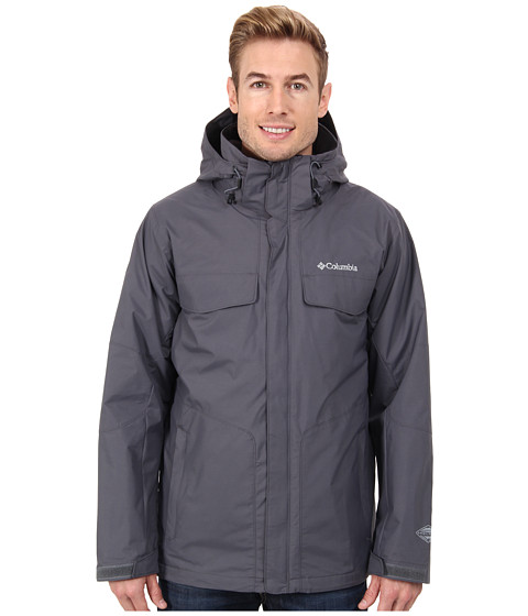 Columbia - Bugaboo Interchange Jacket (Graphite/Tradewinds Grey) Men's Coat