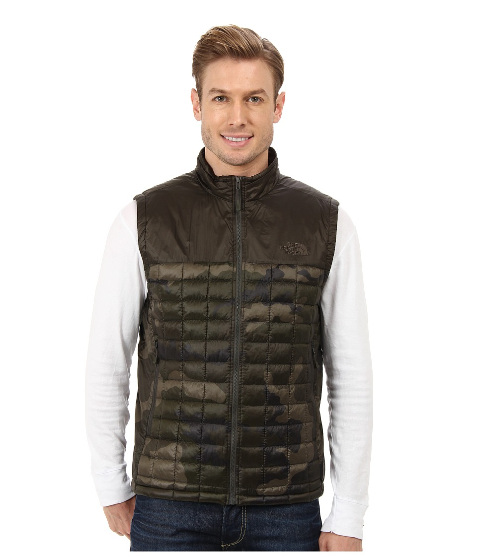 The North Face - ThermoBall Remix Vest (Black Ink Green Camo/Black Ink Green) Men's Vest