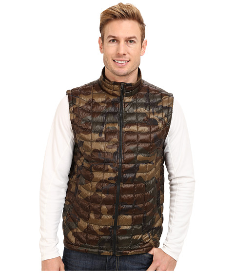 The North Face - ThermoBall Vest (Green Camo) Men's Vest