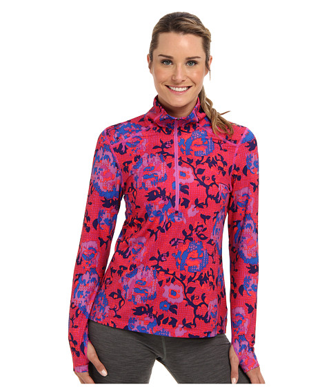 Columbia - Trail Crush Printed Half Zip (Groovy Pink/Sporty Floral Print) Women