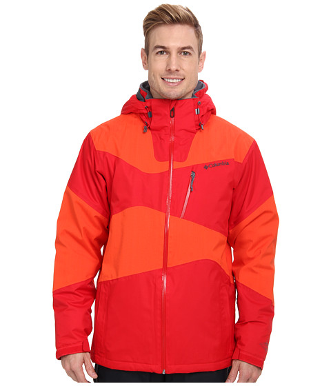 Columbia - Parallel Grid Jacket (Bright Red/State Orange) Men