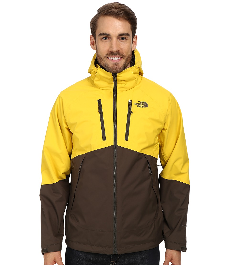 The North Face - Condor Triclimate Jacket (Black Ink Green/Sulphur Yellow) Men
