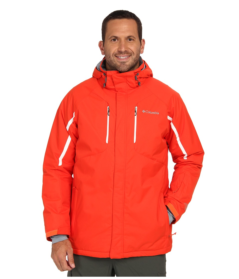 Columbia - Cubist IV Jacket - Extended (State Orange/White) Men