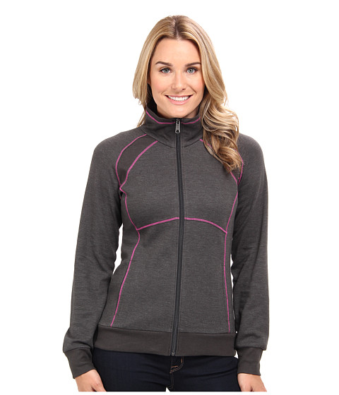 Columbia - Heather Hills Full Zip (Coal/Groovy Pink) Women
