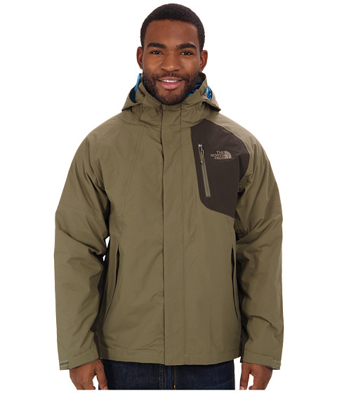 The North Face - Carto Triclimate Jacket (Burnt Olive Green/Black Ink Green) Men's Coat
