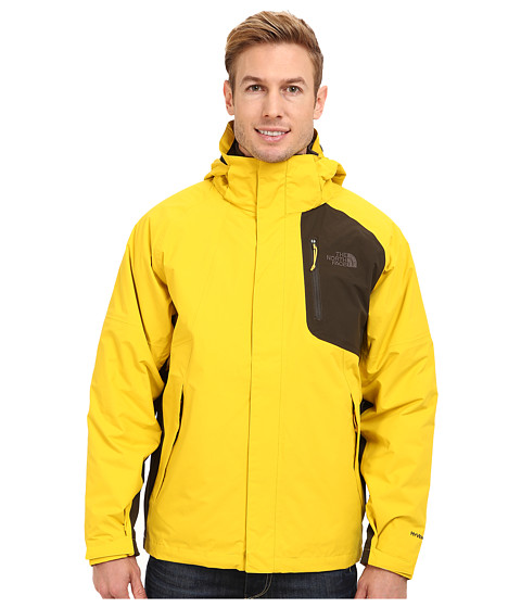 The North Face - Carto Triclimate Jacket (Sulphur Yellow/Black Ink Green) Men's Coat