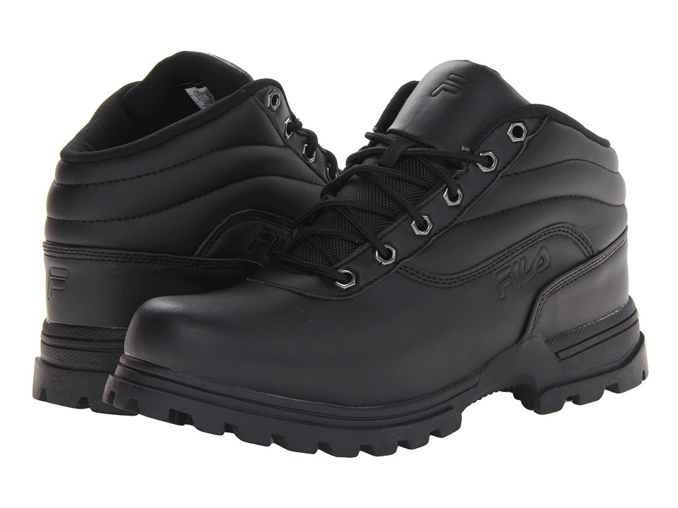 Fila - Adventura (Black/Black/Dark Silver) Men's Shoes