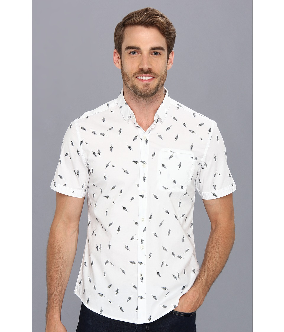 7 Diamonds - Birds Of A Feather S/S Shirt (White) Men's Short Sleeve Button Up