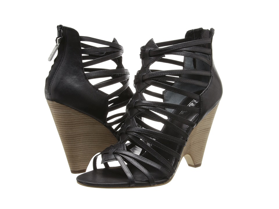 Image of Belle by Sigerson Morrison - Annie (Black Leather) High Heels