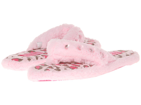 M&F Western - Furry Flip Flop Slippers (Pink) Women