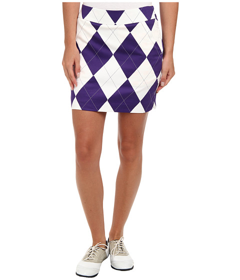 Loudmouth Golf - Purple and White Skort (Purple/White) Women's Skort