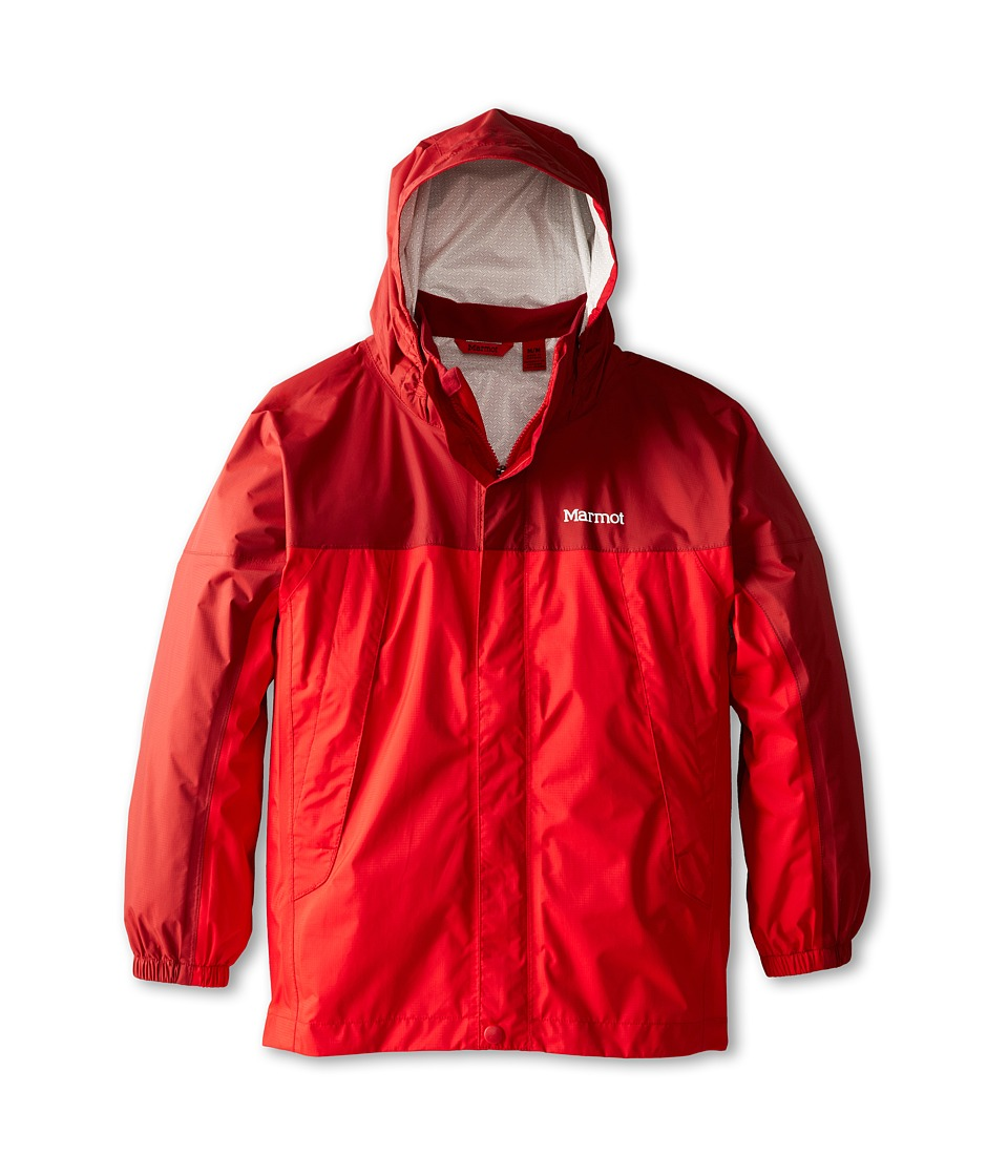 Marmot Kids - PreCip Jacket (Little Kids/Big Kids) (Team Red/Dark Crimson) Boy's Coat