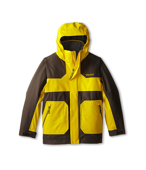 Marmot Kids - Boy's Storm Rider Jacket (Little Kids/Big Kids) (Yellow Vapor/Slate Grey) Boy's Jacket